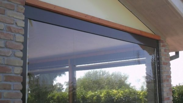 tenda cristal pvc alluminio marrone